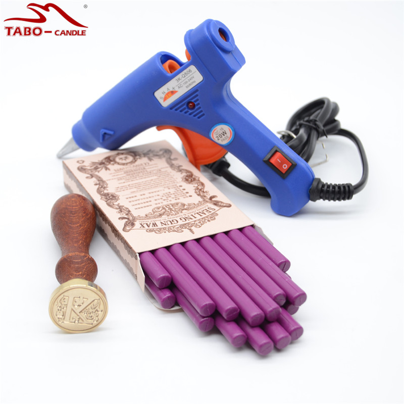 Beautiful Violet Sealing Wax Sticks for DIY Wedding Invitation Decoration Hot Glue Gun Included with Initial Letter Stamp 10pcs wedding invitation card decoration sealing wax stick with exciting color for flexible glue gun