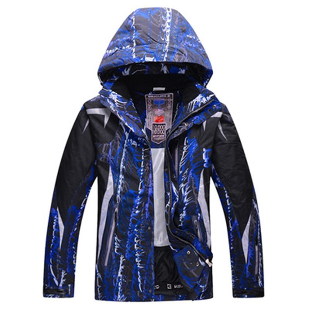 9d72fa658a Men s Ski Jackets Waterproof Breathable Printing Winter Thick Warm Outdoor  Mountaineering Mens Ski Coat Thermal Skiing Gear