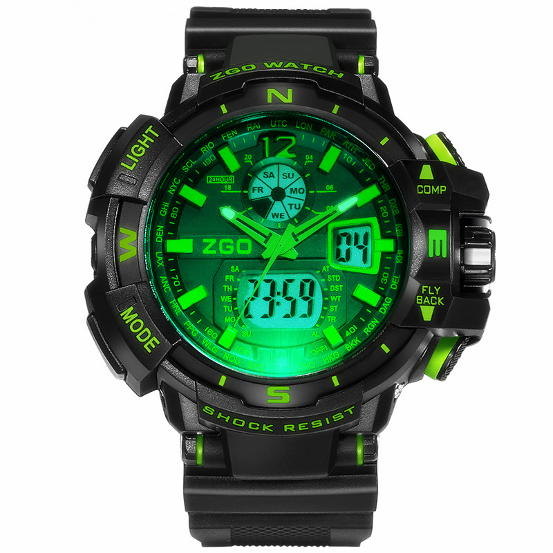 2016 New ZGO G Style SHOCK Men Digital Sports Watches