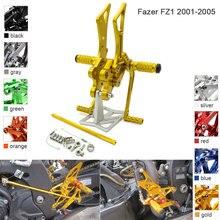 CNC Aluminum Adjustable Rearsets Foot Pegs For Yamaha FZS1000 Fazer FZ1 2001 2002 2003 2004 2005
