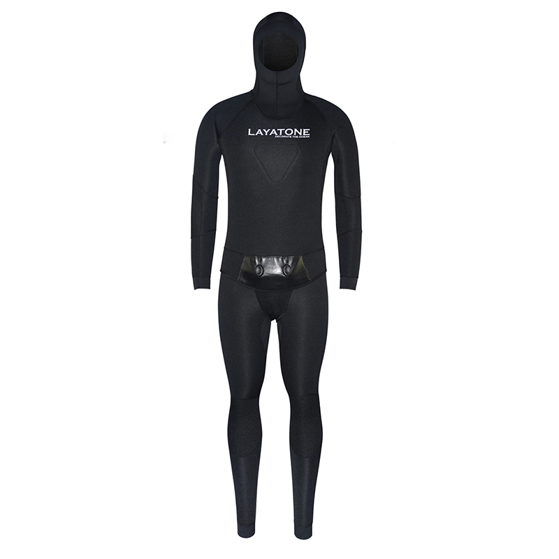 3mm Neoprene Wetsuit Swimwear With Vest For Men Winter Fishing Spearfishing Underwater Hunting Scuba Diving Swimming Pesca Black