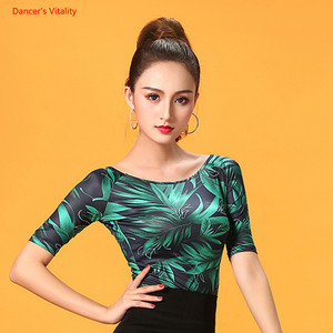 Image 3 - Ballroom Dance Tops Sexy Gauze Long Sleeve Dance Clothes Women Latin Salsa Rumba Chacha Dance Performance Practice Costumes