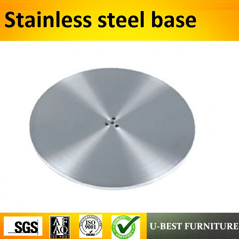 U-BEST Hardware Metal Pedestal Table Round Base Stainless Steel,stainless steel leg for coffee table stainless steel coffee table frame