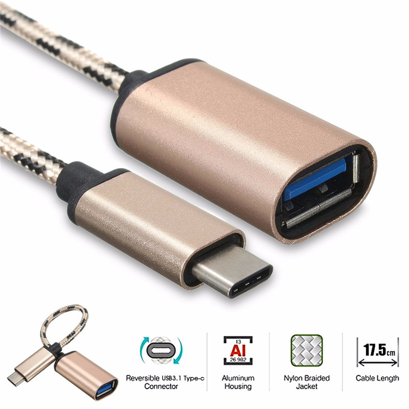 USB 3.1 Type-C Male To USB 2.0 Type-A Female Adapter And OTG Cable For Mobile Phone And Laptop 2