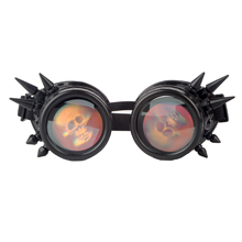 Gothic Spikes Cosplay Rivet Steampunk Goggles Glasses Welding Punk 6 Color