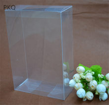 30pcs Wholesale 4x7x14cm Clear PVC box Transparent Plastic Gift Box for Toys/Crafts Display Wedding Large present packaging box(China)