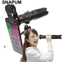 SNAPUM mobile phone 36x telescope Camera Zoom optical Cellphone telephoto Lens For iphone samsung oppo vivo xiaomi
