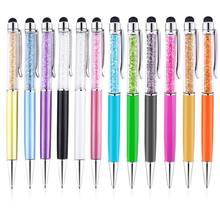 100 шт 50 дюймовый 2 в 1 Кристальный стилус и шариковая ручка