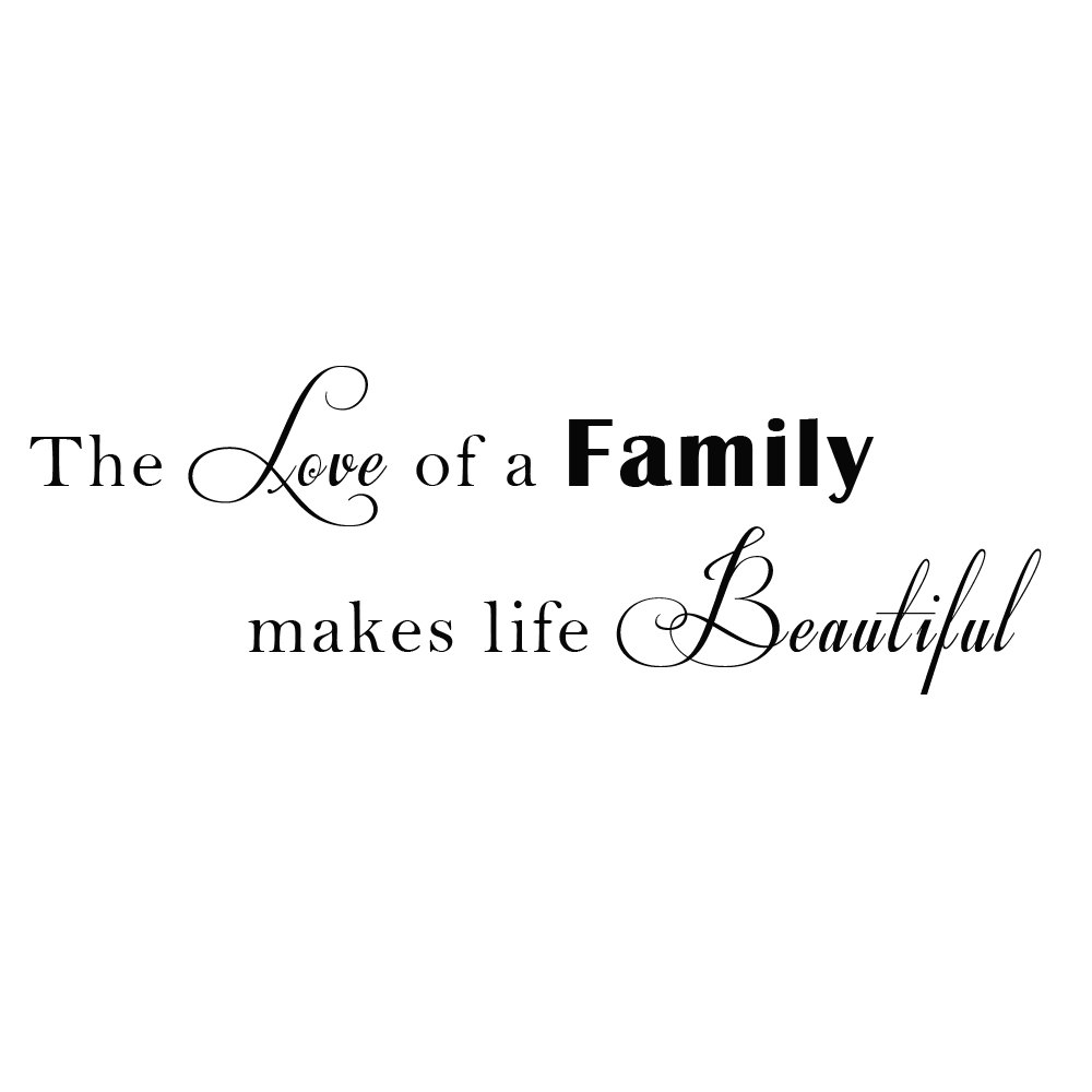 Family Quotes Love Love Family Vinyl Wall Quotes Stikers Decal For Room Decor Various