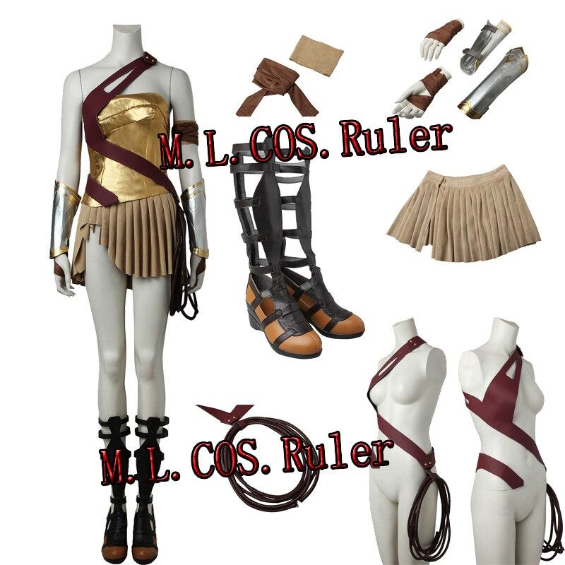 miglior servizio posto migliore top design Popolare Wonder Woman Diana Principe Cosplay Costume Vestito Pieno ...