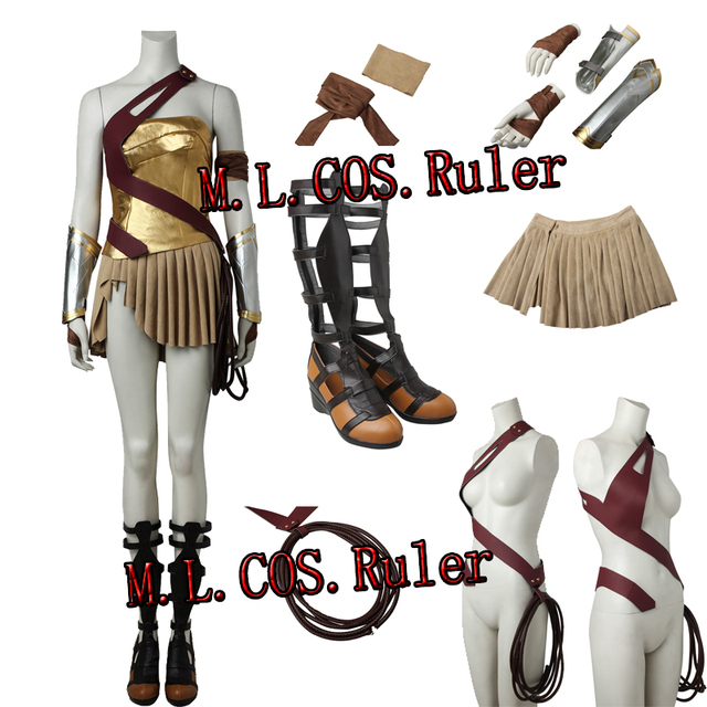 0d51d039210a3 US $188.09 5% OFF|Popular Wonder Woman Diana Prince Cosplay Costume Full  Suit With Boots Outfit Halloween Clothes Custom Made Free Shipping-in Movie  & ...