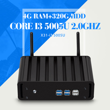 5Gen 5005U Core i3 Мини-ПК Windows 8.1/8/10 4 Г RAM 320 Г HDD + WI-FI кну компьютера TV Box Видеокарта HD 5500 300 М Wifi HTPC HDMI VGA