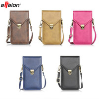 Phone Bag Universal PU Leather Pouch Crossbody Small Bags Front For IPhone 4 4s 5s 5