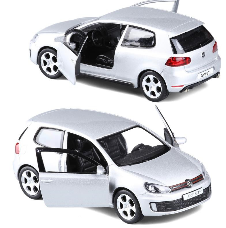 High Simulation Golf GTI,1:36 Scale Alloy Pull Back Car Toys,diecast Metal Model Vehicles,collection Model Toy,free Shipping