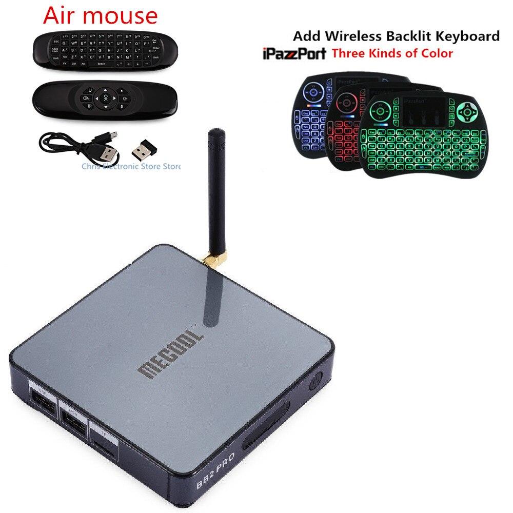 Original MECOOL BB2 PRO 3GB 16GB Android 6.0 Octa Core Smart TV Box Amlogic S912 Bluetooth 4.0 1000M WiFi 4K Media Set Top Box smart box tv amlogic s912 octa core 2g 16g tv box android 6 0 4k tv box 2 4g 5g wifi bluetooth 1000m lan android tv box