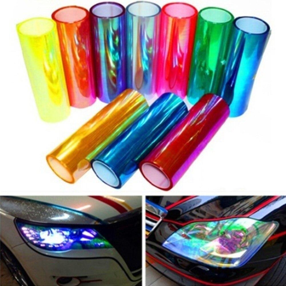 Vinyl Car Sticker Headlights Tail Light Base Tone Film Wrapped Car Shape Chameleon Waterproof Self Adhesive 19Feb28