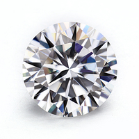 5ct 2mm round brilliant cut loose moissanites stone for making engagement rings jewelry settings