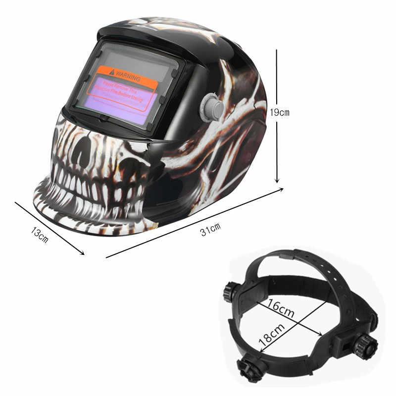 Скелет шаблон авто затемнение Солнечный сварочный шлем для сварщиков маска шлифовальные сварочные маски