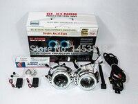 3.0HQI 35 Вт 3 ''дюймовый Би объектив проектора двухместный Ангел глаз лампы для автомобилей H4 H1 H7 H11 HB3 HB4 9004 9007 4300 К 5000 К 6000 К 8000 К