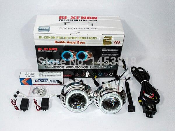 3.0HQI 35 w 3 ''pouces bi-projecteur lentille double ange lampe pour voiture H4 H1 H7 H11 HB3 HB4 9004 9007 K 4300 k 5000 k 6000 k 8000 K