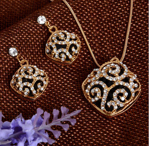 Cristal austríaco Banhado A Ouro Jewerly Conjuntos Para Mulheres Pedras Olho de Gato Conjunto de Jóias africano colar brincos conjunto de jóias