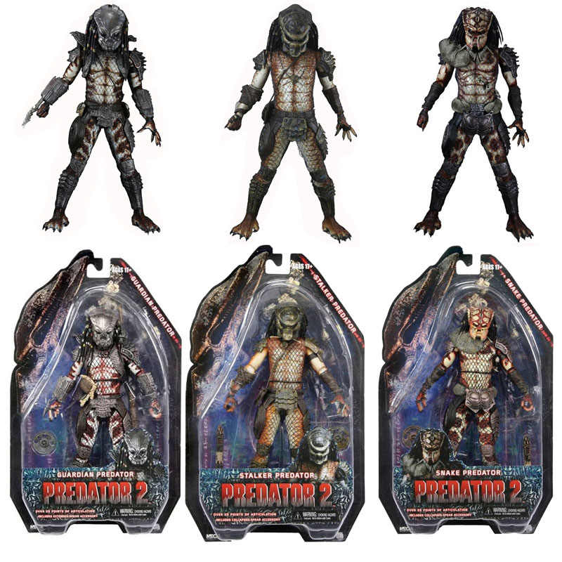 NECA Predator 2 Guardian Snake Stalker Predator PVC Action Figures Collectible Model Toys