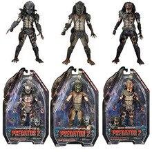 NECA Predator 2 figuras de acción de PVC, juguetes de modelos coleccionables, serpiente, Stalker, depredador