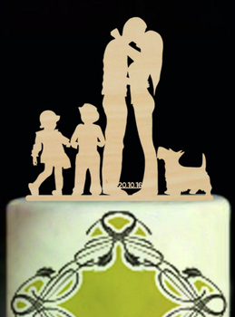 Online Shop Personalized Rustic Family Wedding Cake Topper Custom ...