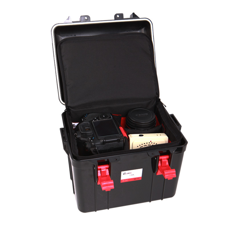 Black Hard Waterproof Plastic Case With Handle Dry Box For Camera Digital Products Dry Cabinet