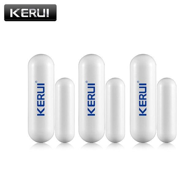 3pcs/lot New KERUI open reminder Sensor 433mhz While Wireless Home Alarm Window/ Door Sensor to Detect Open Door