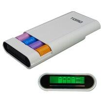 Banco de la Energía DIY Shell Caja de pantalla Digital LCD fuente de alimentación móvil caso 4×18650 Cargador de Batería Caja Con Doble USB AY351-SZ
