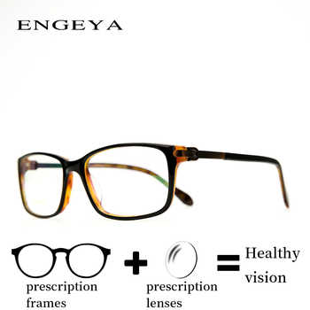 Acetate Prescription Eyeglasses Men Branded Diopter Eye Glasses Resin Lenses Unique Leg Design #IP6705 - DISCOUNT ITEM  42% OFF All Category