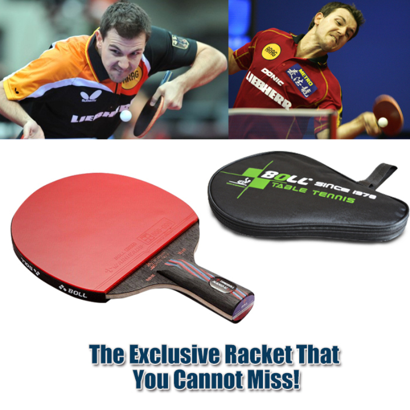 1x Brand quality Carbon Fiber Table tennis racket Blade with double face Pimples in Racket rubber