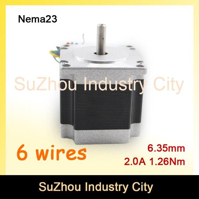nema 23 cnc stepper motor 57x56 nema 23 stepping motor 2 0a 1 26n m rh aliexpress com
