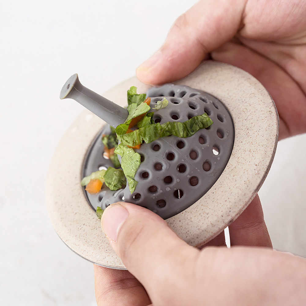 Rolha de escoar água da pia, filtro de pia de silicone para coletar água, rolha de cabelo, filtro de esgoto, acessórios para cozinha e kichen