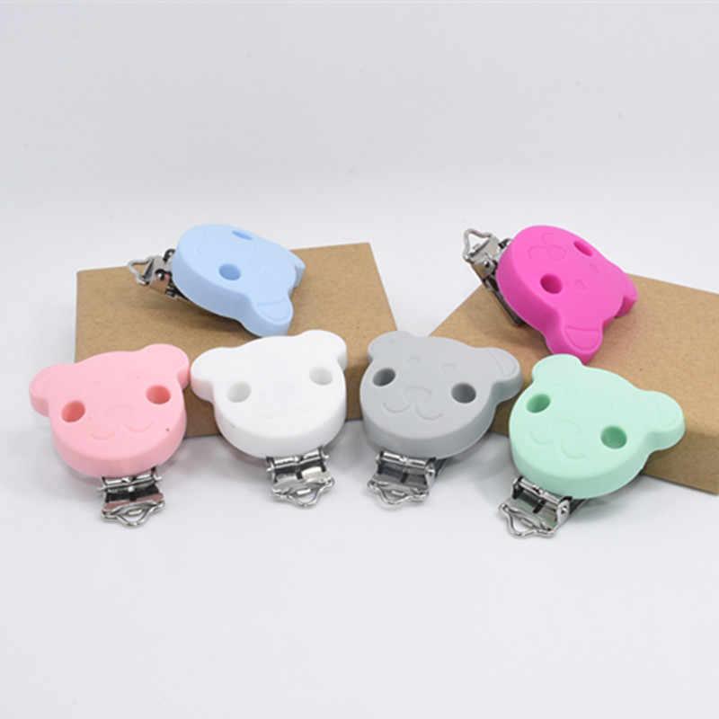 5 PCS BPA ฟรีซิลิโคนหมีคลิป DIY Baby Dummy Pacifier Chupetero โซ่หัตถกรรมคลิปพยาบาลของเล่น Pacifier อุปกรณ์เสริม