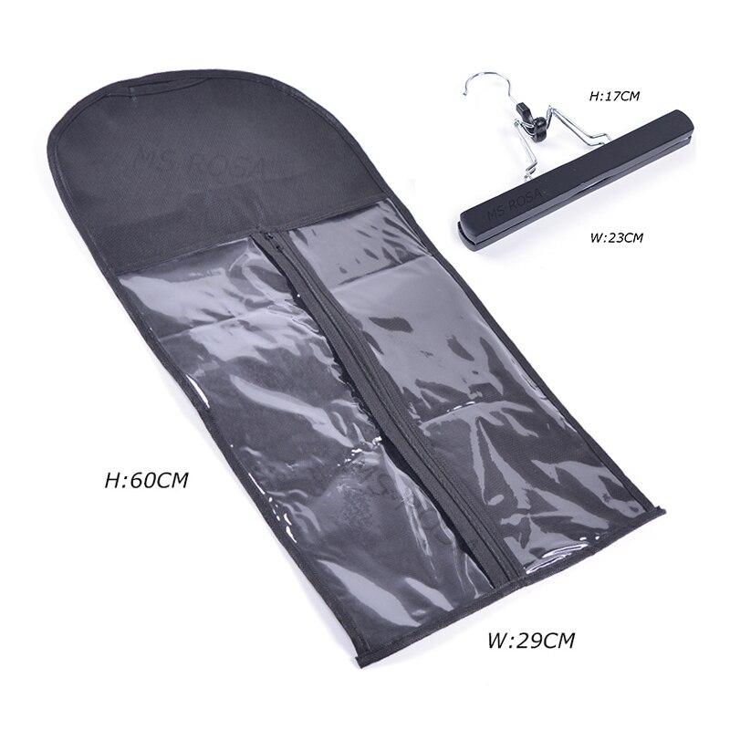 2 Σετ τσαντών αποθήκευσης τσαντών αποθήκευσης για τα μαλλιά Ετικέτες: τσάντα μεταφοράς κοστουμιών με κρεμάστρα για συσκευασία τρίχας μαλλιών και κλιπ σε επεκτάσεις τρίχας