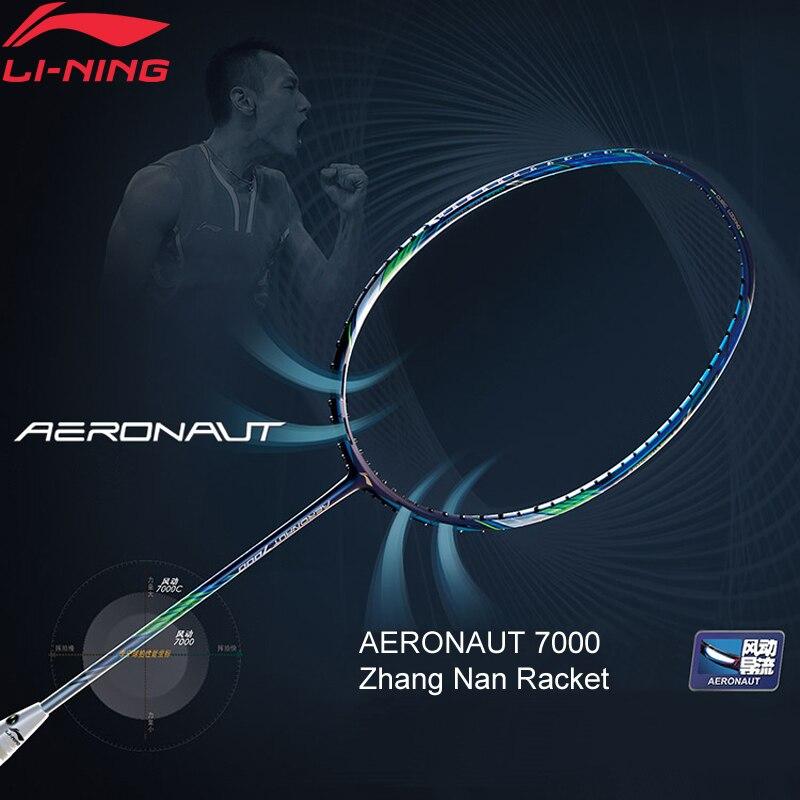 Li-Ning AERONAUT 7000/7000C Professional Badminton Racket Zhang Nan LiNing Single Racket No String AYPM452/AYPM442 ZYF311