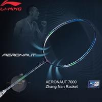 Li Ning AERONAUT 7000/7000C Professional Badminton Racket Zhang Nan LiNing Single Racket No String AYPM452/AYPM442 ZYF311