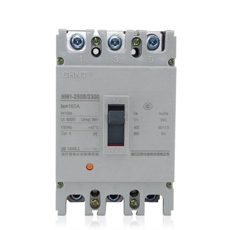 1 pièces Chint NM1-250S/3300 125A 250A 200A 160A 3 P Interrupteur D'air Disjoncteur à Boîtier Moulé