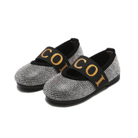 Children Kids Shoes Girls Casual Fashion Sandals Pearl Bling Sequins Single Shoe