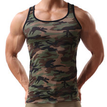 Fashion Shirts Military Sleeveless Men's Camouflage Vest Sportswear Breathable T-shirt For Men Drop Shipping(China)
