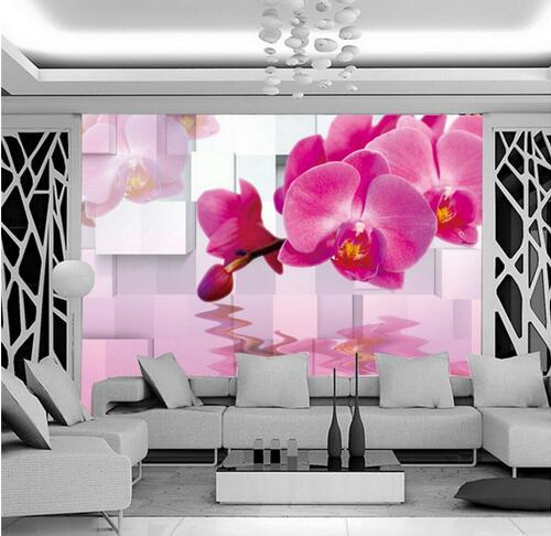 agua prpura arte de la pared que cubre para la sala de estar mural de