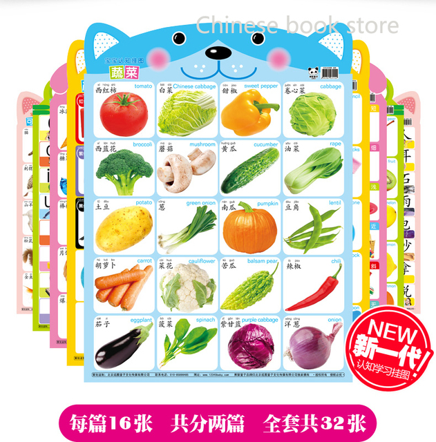 AliexpressCom  Buy Kids Baby Cognitive Wall Charts Book Chinese