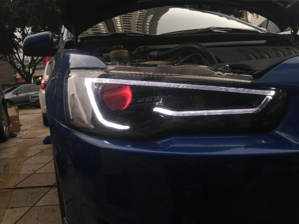 Рэш дизайн Бесплатная доставка по Китаю головной лампы автомобиля ВЛАНД на 2008 2012 2015 Лансер светодиодные фары в стиле А5 ДХО Н7 Ксеноновые лампы