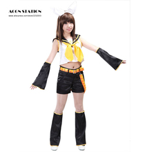 Free Shipping Vocaloid Kagamine Rin Women Musical Cosplay Costumes