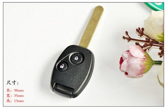 Prix pour 2 Boutons À Distance Clé Pour Honda Accord Fit Odyssey Ville Civic (après 2009 Année) avec ID46 Puce 434 Mhz D'alarme de Voiture D'entrée Sans Clé Fob