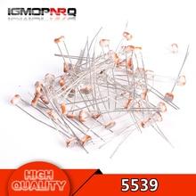 50PCS 5539 GL5539 5MM LDR Photo Light Sensitive Resistor Photoelectric Photoresistor