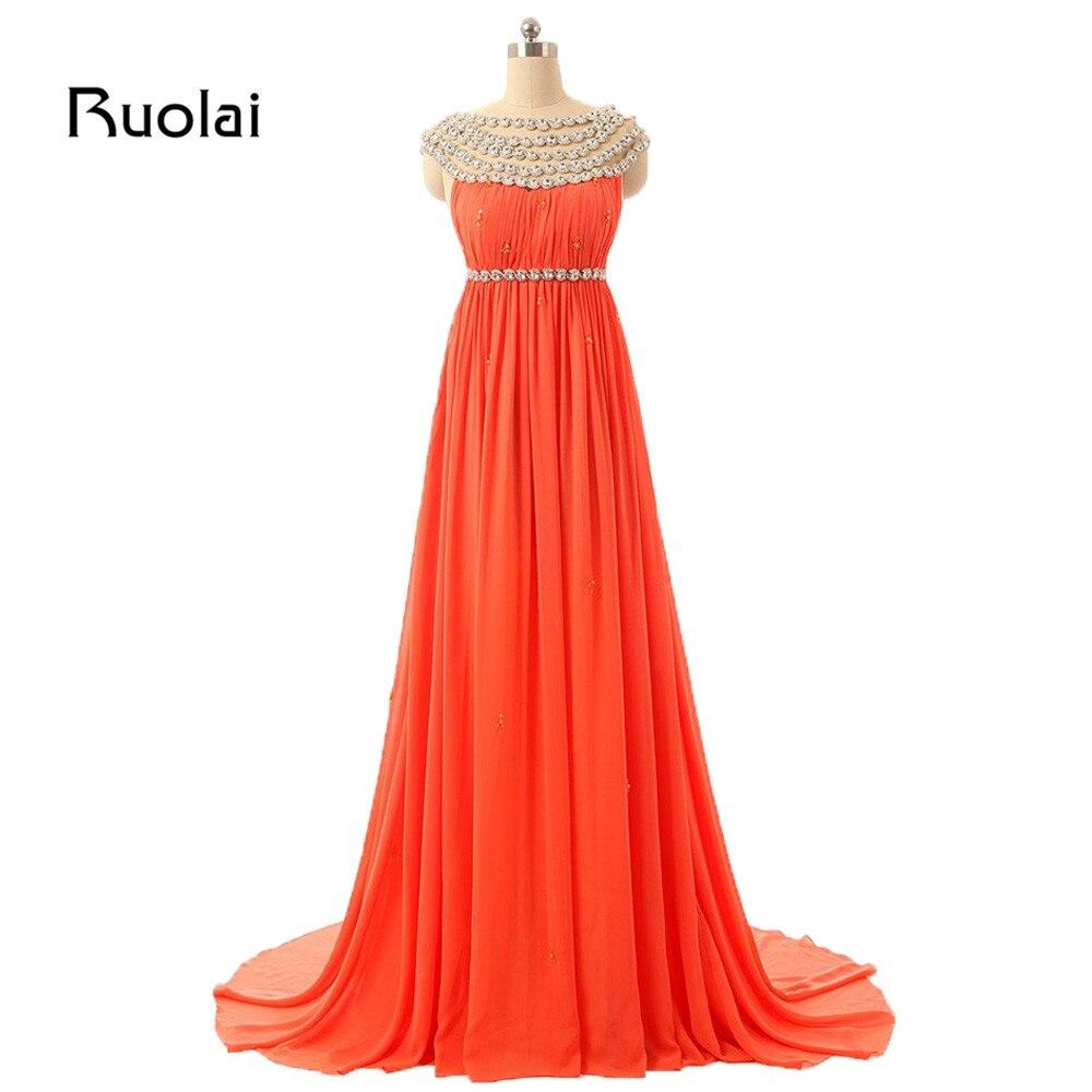 Robes de demoiselle d'honneur a-ligne en cristal Long col perlé robes de mariée en mousseline de soie robe d'invité robe de Fiesta BM33