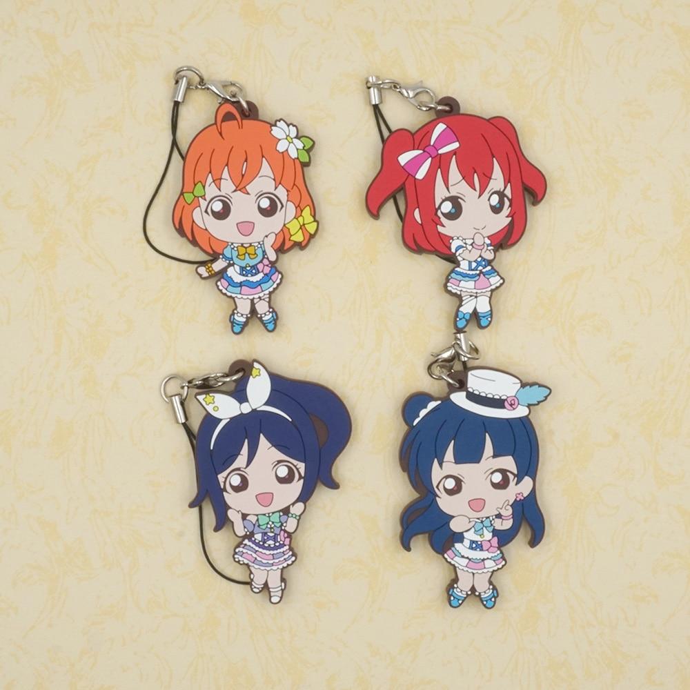 Love Live Lovelive Sunshine Aqours Anime Kanan Chika Tsushima Yoshiko Kurosawa Ruby Japanese Rubber Keychain григорий лепс парус live